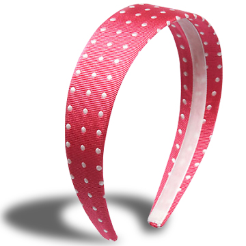 Flexible Plastic Hairband Made From Customer S Fabric  Inside Seam
