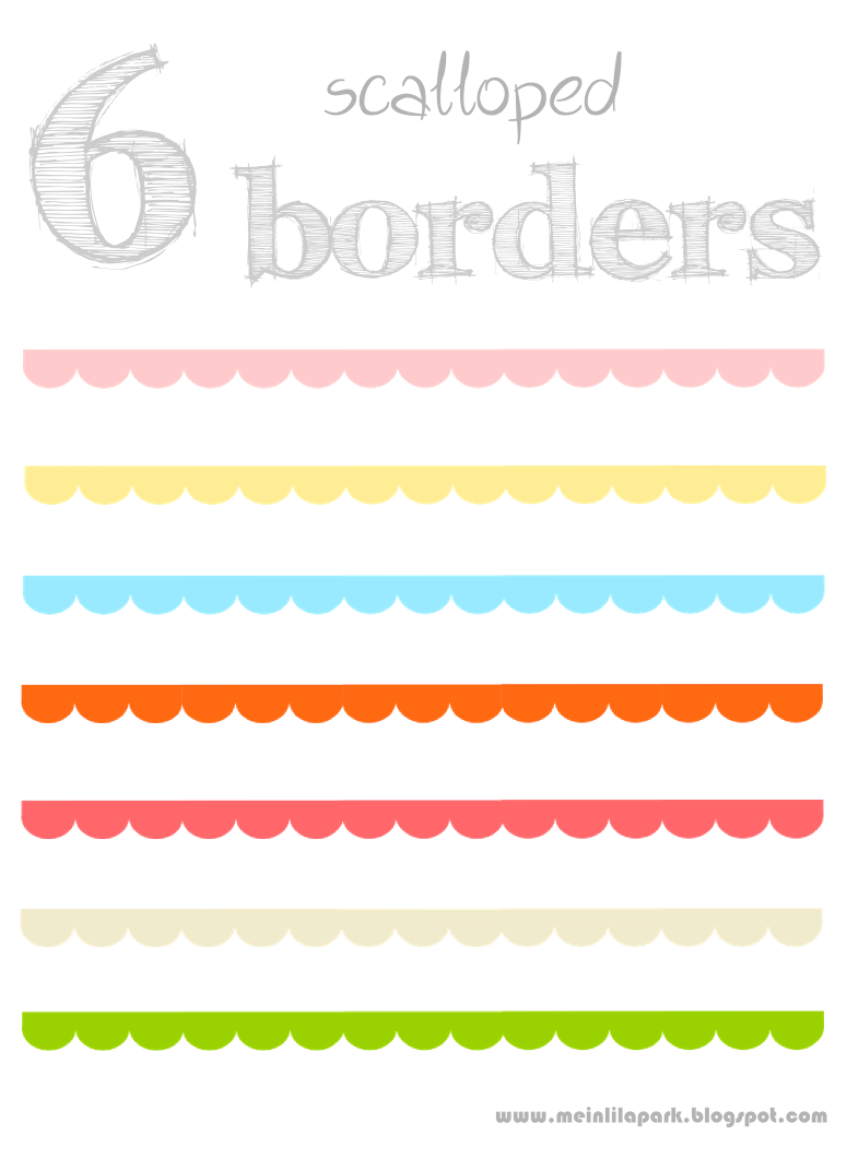 Free Printable Scalloped Scrapbooking Borders