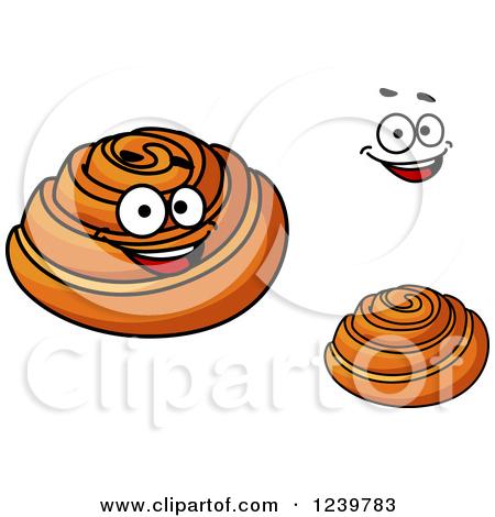 Cinnamon Roll Cartoon Clipart - Clipart Kid