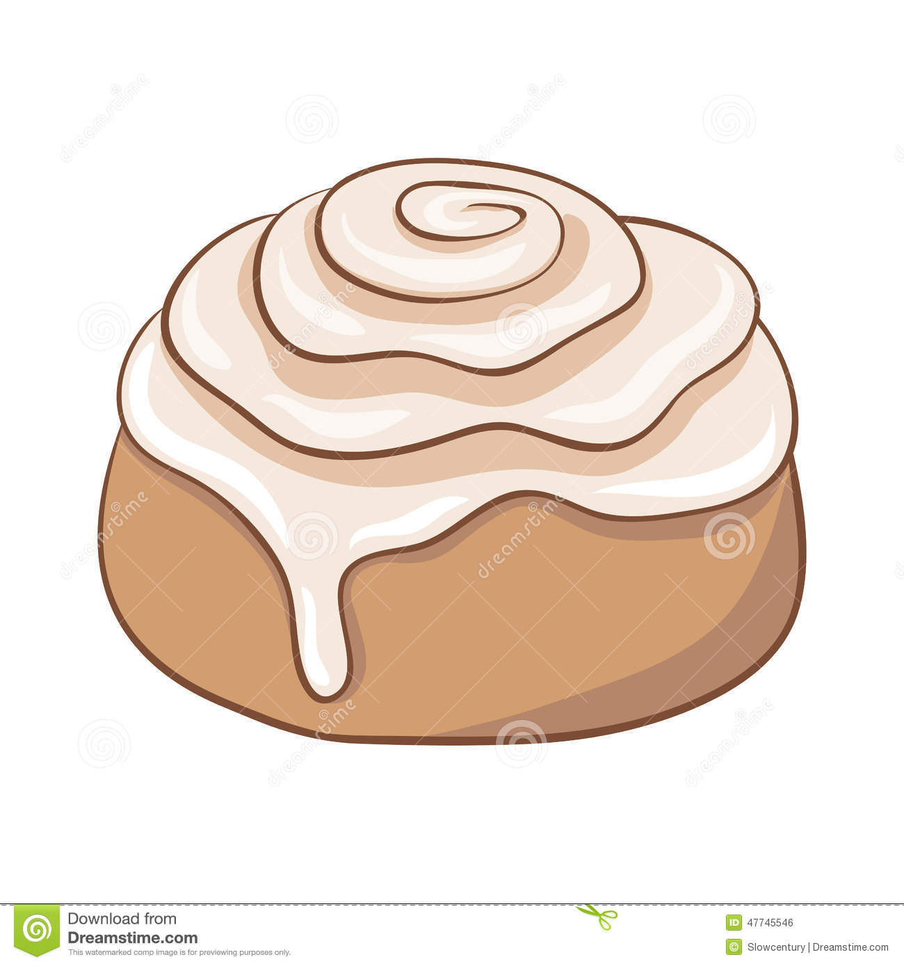 Cinnamon Roll Cartoon Clipart - Clipart Kid