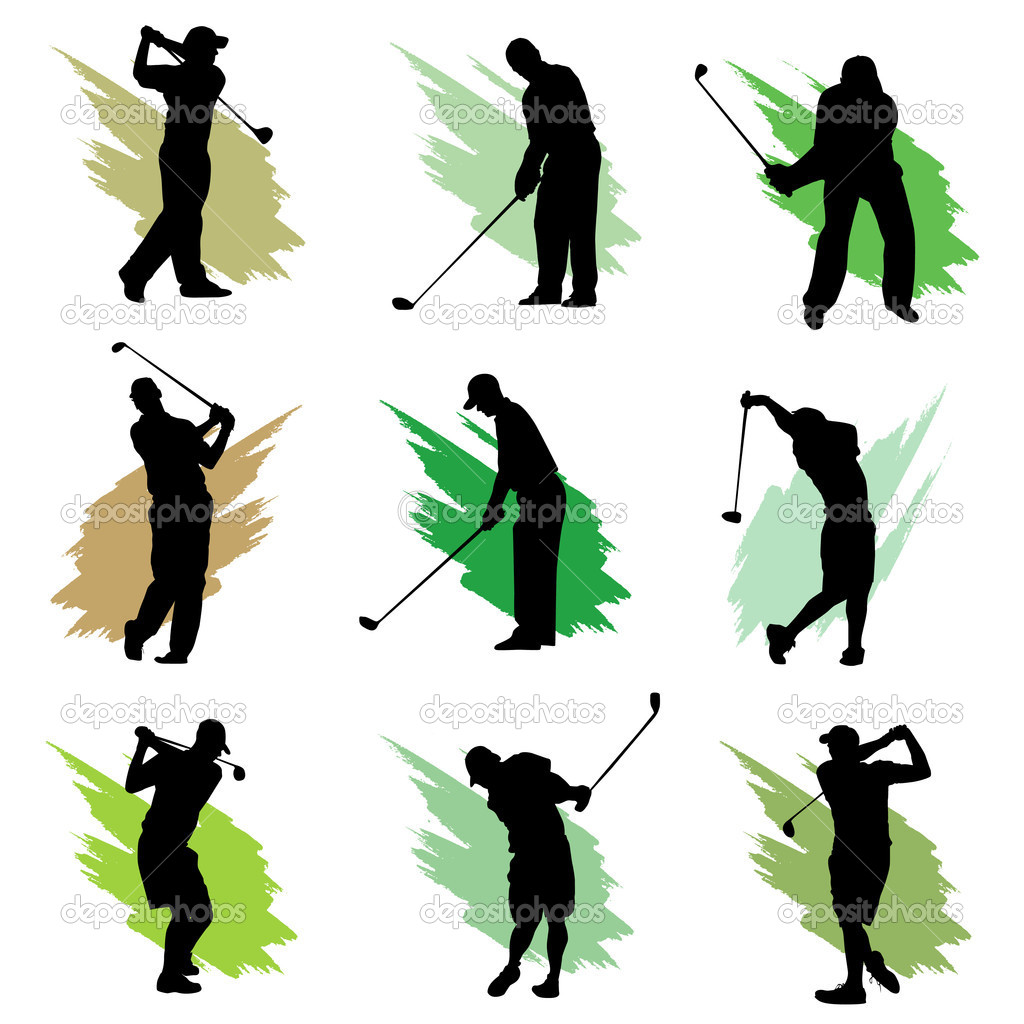 Golf Silhouette Design   Stock Vector   Bogalo  10851355