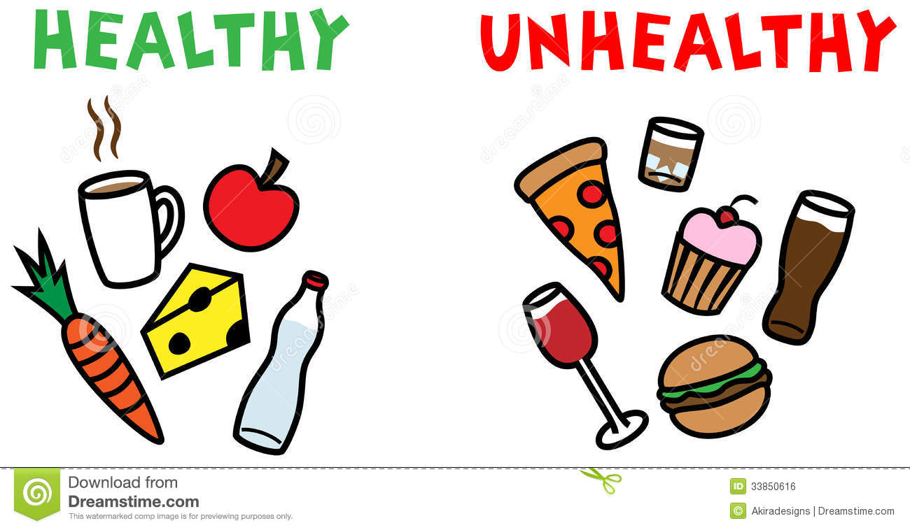 Healthy And Unhealthy Food And Drinks Royalty Free Stock Image   Image