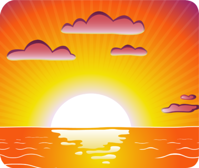 Image result for clip art sunset