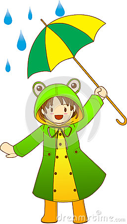 In Her Froggy Raincoat  She Looks Fun When Playing With Her Umbrella
