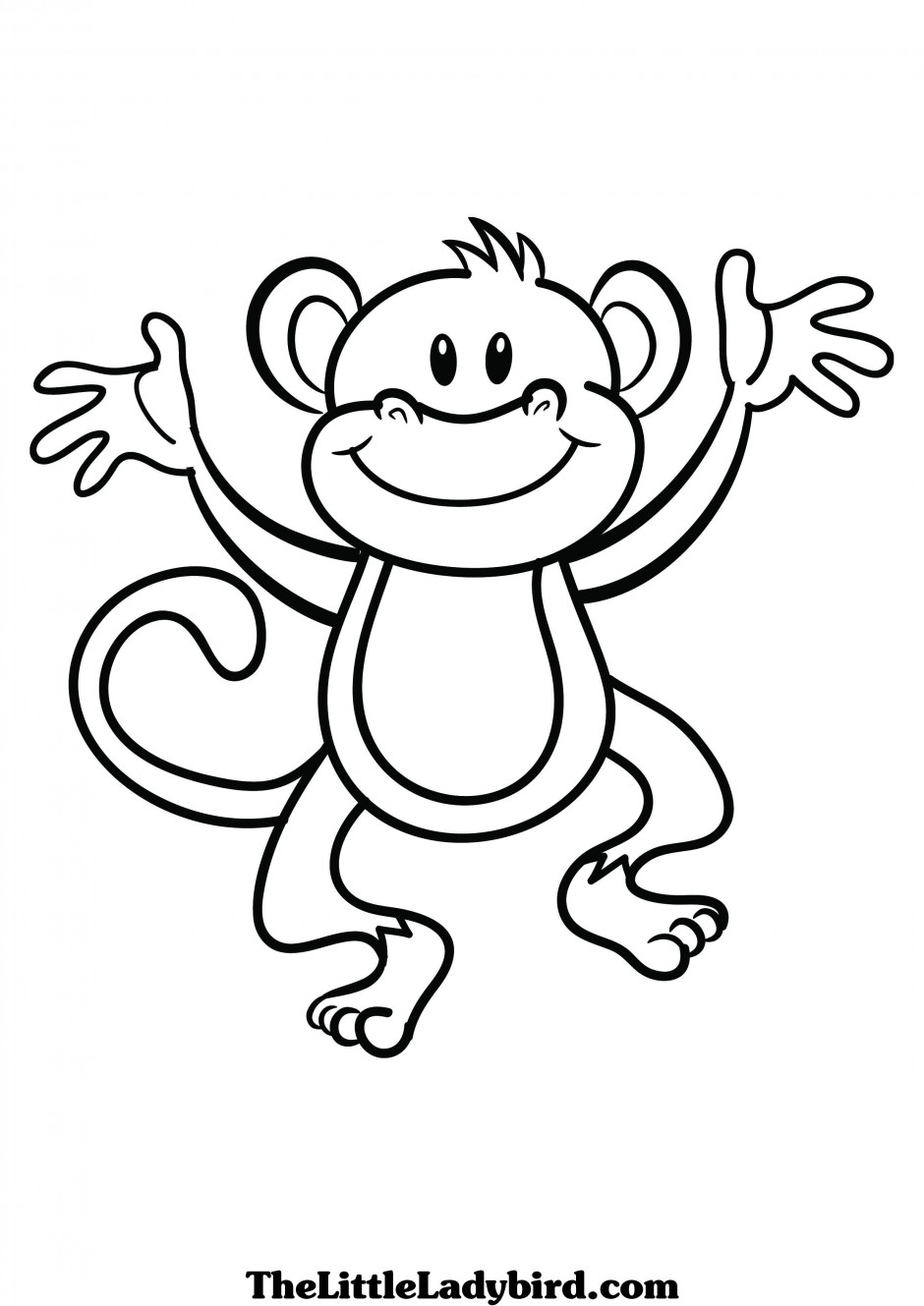 Monkey Black And White Clipart - Clipart Kid