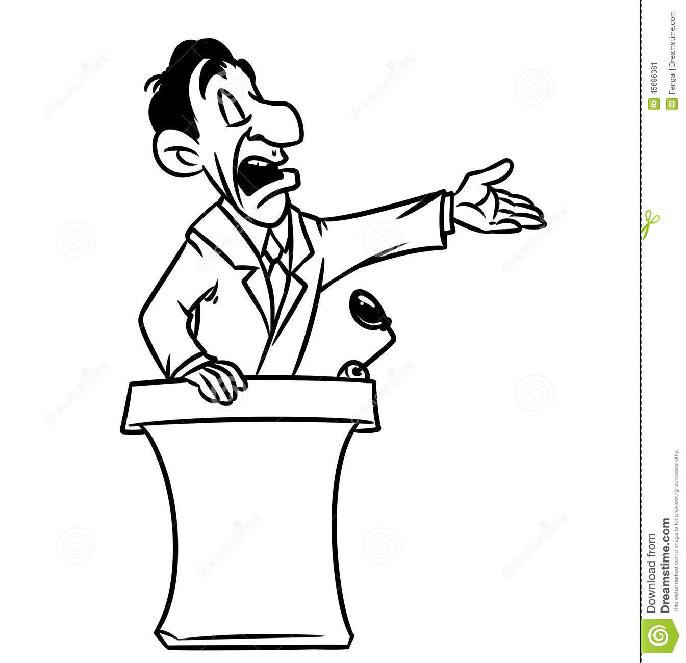 Politician Speech Speaker The Podium Stock Illustration   Image