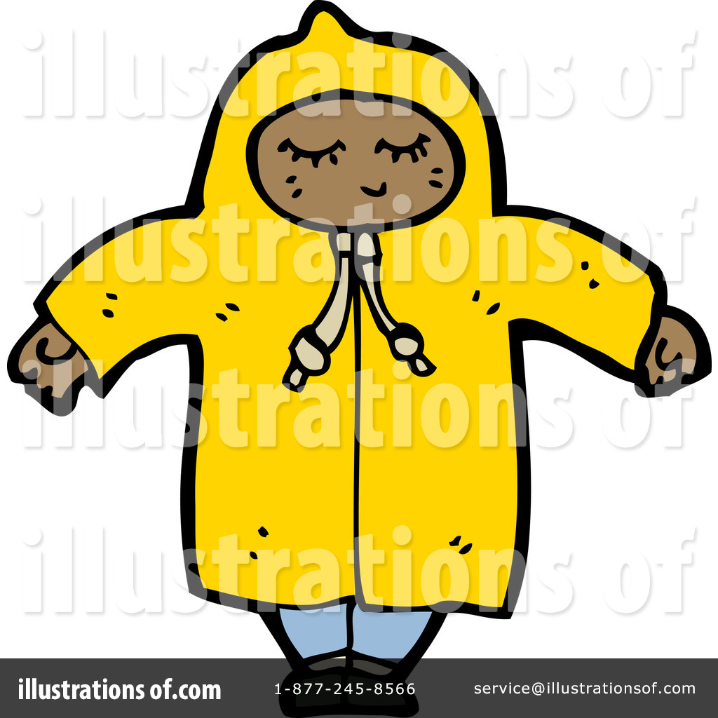 Raincoat Clipart  1185409 By Lineartestpilot   Royalty Free  Rf  Stock