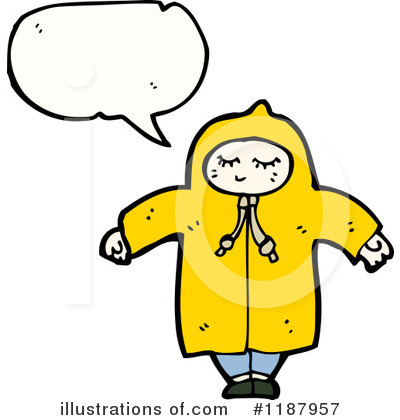Raincoat Clipart  1187957 By Lineartestpilot   Royalty Free  Rf  Stock