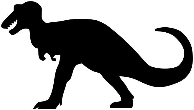 Silhouette Animals Extinct Dinosaur T Rex Tyrannosaurus Silhouette