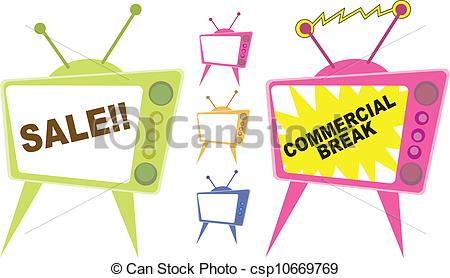 Tv Ad   Stock Illustration Royalty Free Illustrations Stock Clip Art
