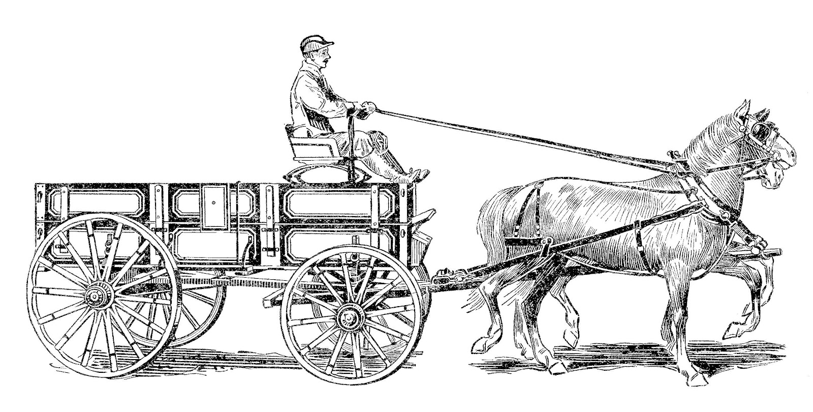Western Wagons With Horses Clipart - Clipart Kid