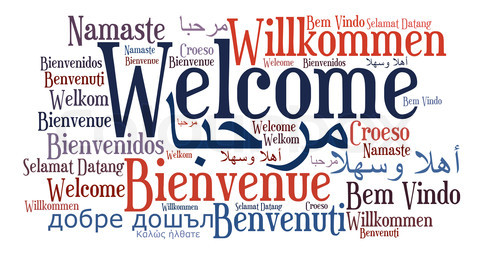 Welcome Phrase In Different Languages  Word Clouds Concept