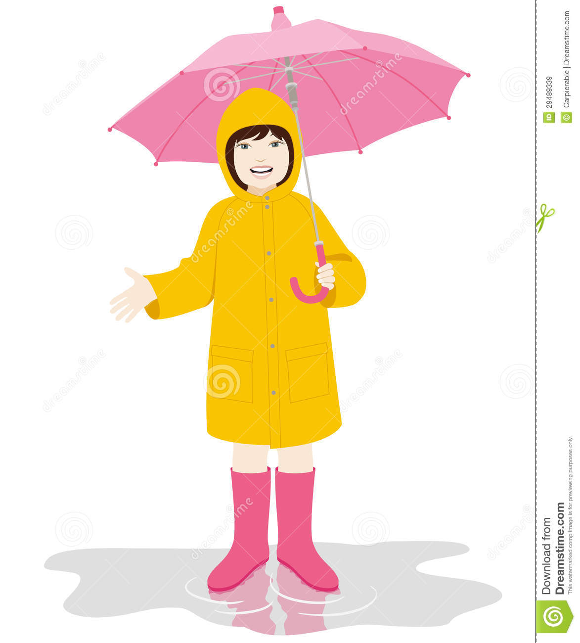 Yellow Raincoat Clipart And Yellow Raincoat On The