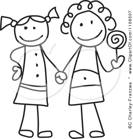 friends holding hands coloring pages - photo#12