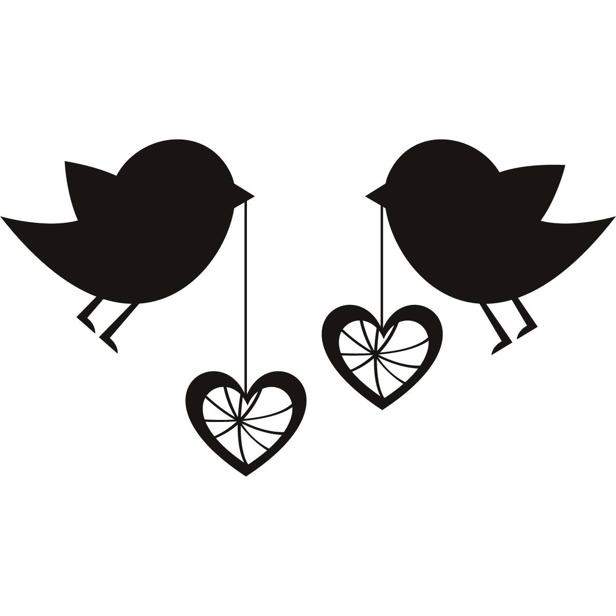 Clip Art Love Birds Clipart love birds for wedding clipart kid with hearts wall art sticker decal transfers ebay