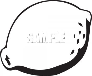 Black And White Lemon Clipart Image   Foodclipart Com