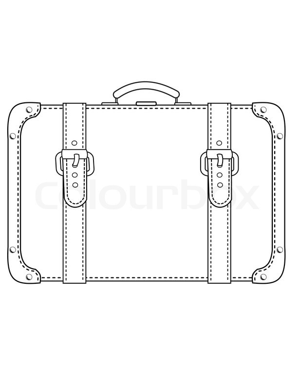 Suitcase Black And White Clipart - Clipart Suggest