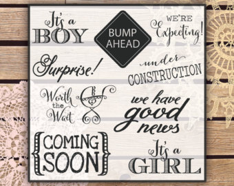 Clipart   Pregnancy And Maternity A Nnouncement Design Elements And