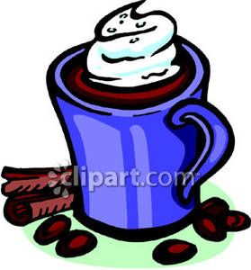 Drinking Hot Chocolate Clipart