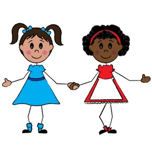 4 Friends Holding Hands Clipart - Clipart Kid