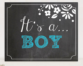 Its A Boy Printable Chalkboard Sign   Pregnancy Announcement Sign