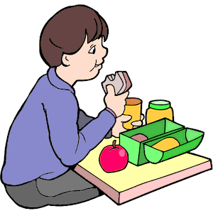Sitting At Lunch Table Clipart - Clipart Kid