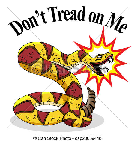 An Image Of A Rattlesnake With Don T Tread On Me Text