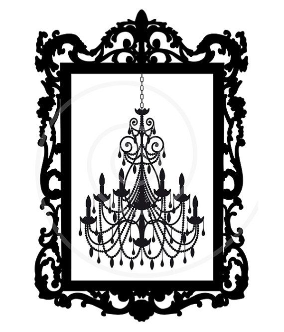Antique Picture Frame Silhouette Vector Digital Clip Art Clipart