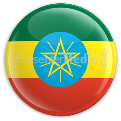 Badge Of The Ethiopian Flag   Signs And Symbols   Great Clipart For