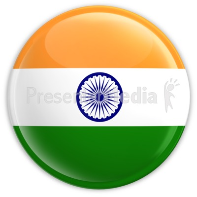 Badge Of The Flag Of India   Signs And Symbols   Great Clipart For