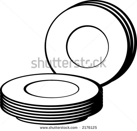Bunch Of Dishes   Stock Vector