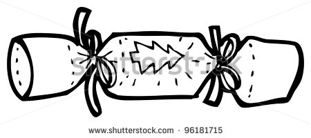 Crackers Clipart Black And White Christmas Cracker Cartoon