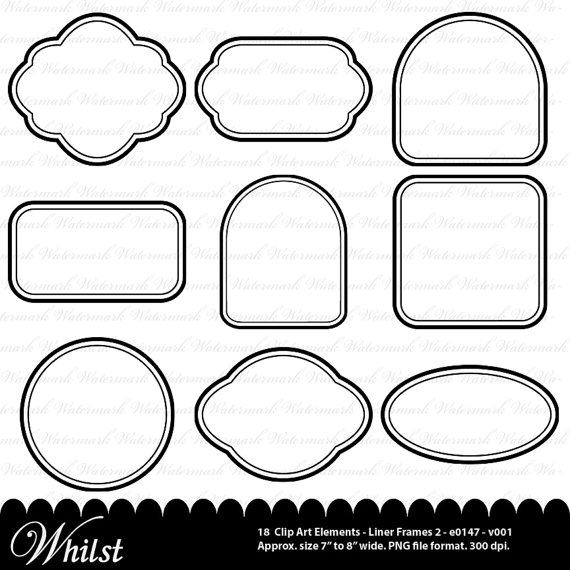 Digital Frame Clip Art Black Clipart Square Rectangle Circle Oval