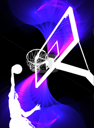 Dunking Basketball Silhouette