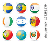 Flag Set Clip Art Vector Flag Set   1000 Graphics   Clipart Me