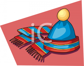 Knit Cap And Scarf   Royalty Free Clip Art Illustration