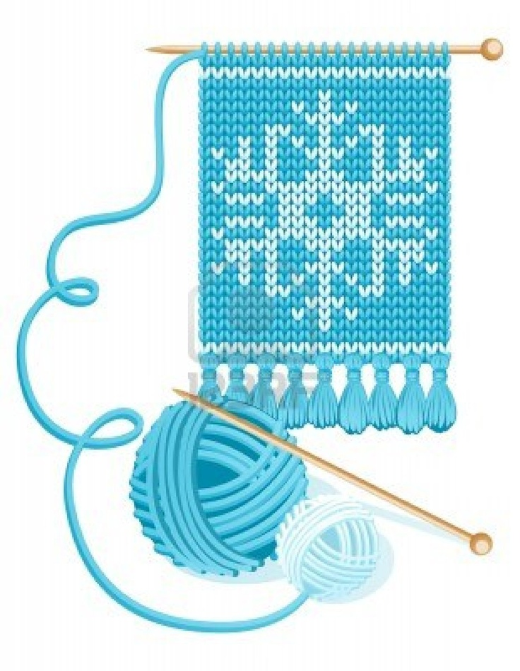 Knitting In Art : Clip art knitted scarves clipart suggest