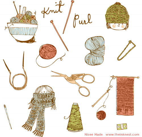 Hands Knitting Drawing : Pics for gt knitting hands clipart