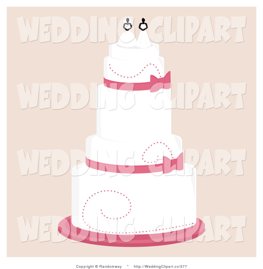 Layered Cake With A Lesbian Topper Wedding Layered White And Red Cake