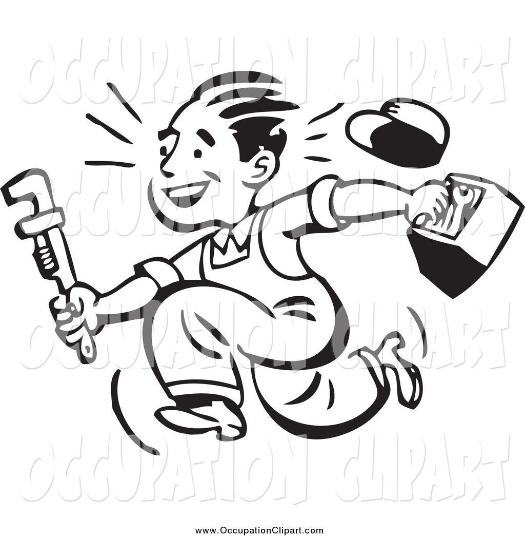 Plumbing Clipart Black And White Clip Art Of A Black And White