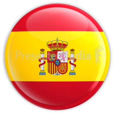 Spain Flag Button   Signs And Symbols   Great Clipart For