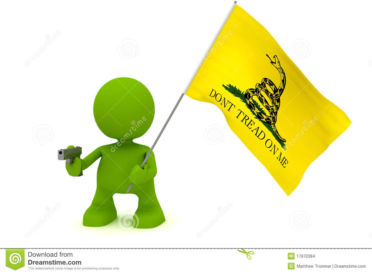 The Gadsen Don T Tread On Me Flag  Part Of My Cute Green Man Series