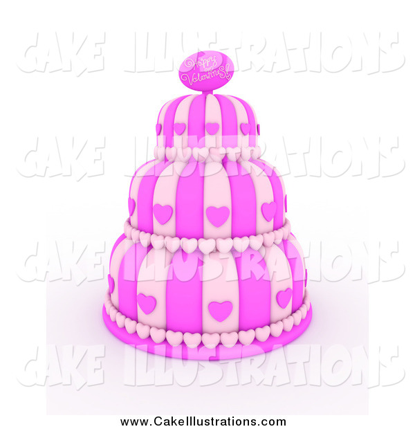 Valentine Cake Clip Art : Layered Cake With Hearts Clipart - Clipart Kid