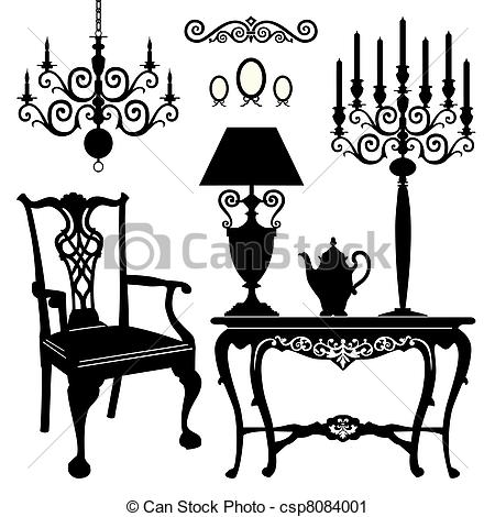 Vector Clip Art Of Antique Furniture   Antique Decorative Furniture