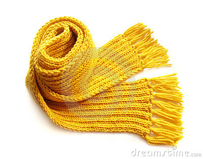Yellow Knitted Scarf Royalty Free Stock Photos   Image  18952858