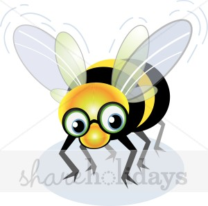 Cartoon Bumble Bee Clipart   Party Clipart   Backgrounds