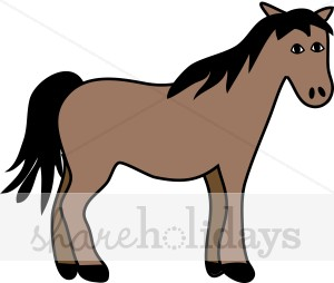 Cartoon Horse Clipart   Party Clipart   Backgrounds