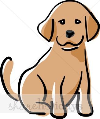 Cartoon Puppy Clipart   Party Clipart   Backgrounds