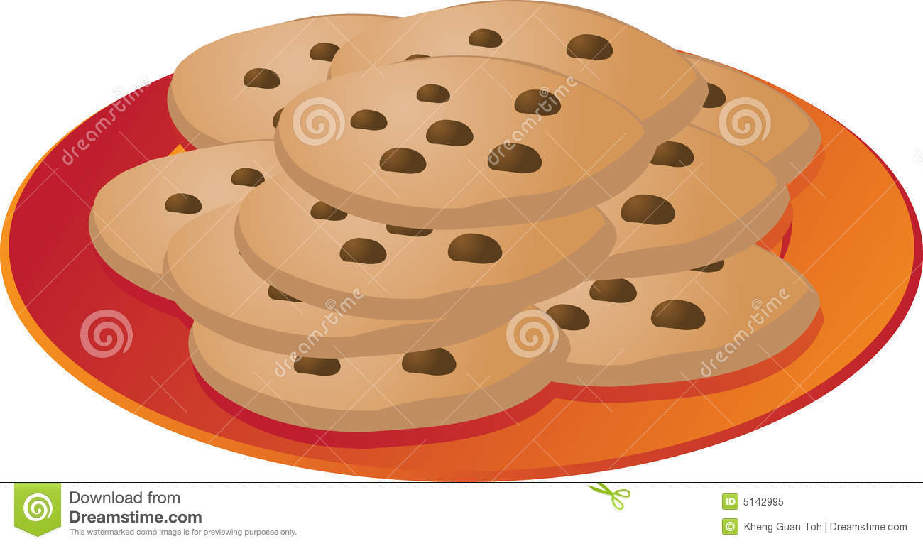 Clip Art Cookies Clip Art clip art plate of cookies clipart kid chcocolate chip on illustrationvector illustration