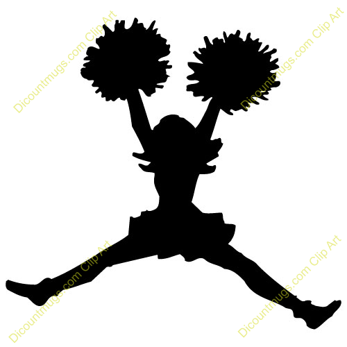 Clipart 14427 Cheerleader   Cheerleader Mugs T Shirts Picture Mouse